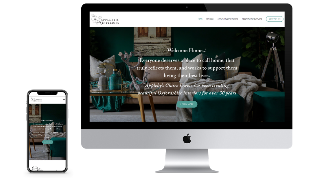appleby interiors design showcase goldilocks creative website design