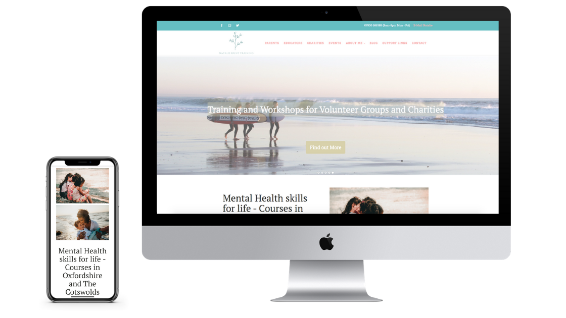 natalie hunt training website design showcase goldilocks creative